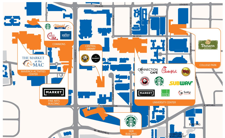 university of texas at arlington campus map B1izermqopucim