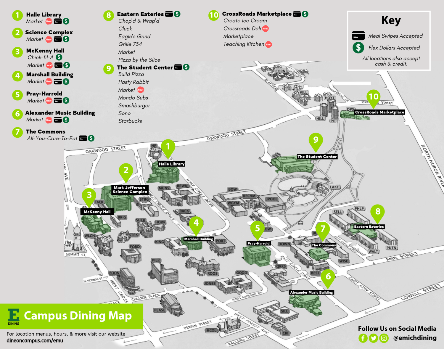 Dine On Campus at Eastern Michigan University || Where to Eat Emu Campus Map on moa campus map, hunter campus map, eastern washington university campus map, oakland u campus map, cow campus map, u of m campus map, ash campus map, eden campus map, eastern oregon university campus map, reebok campus map, eastern mennonite university campus map, university of richmond campus map, eastern university pa campus map, crane campus map, university of mary washington campus map, wmu campus map, wayne state campus map, tri-c west campus map, east carolina university campus map, delta college michigan campus map,
