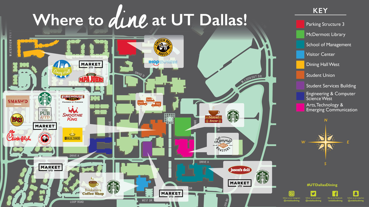 university of texas at dallas campus map Dine On Campus At The University Of Texas At Dallas Where To Eat