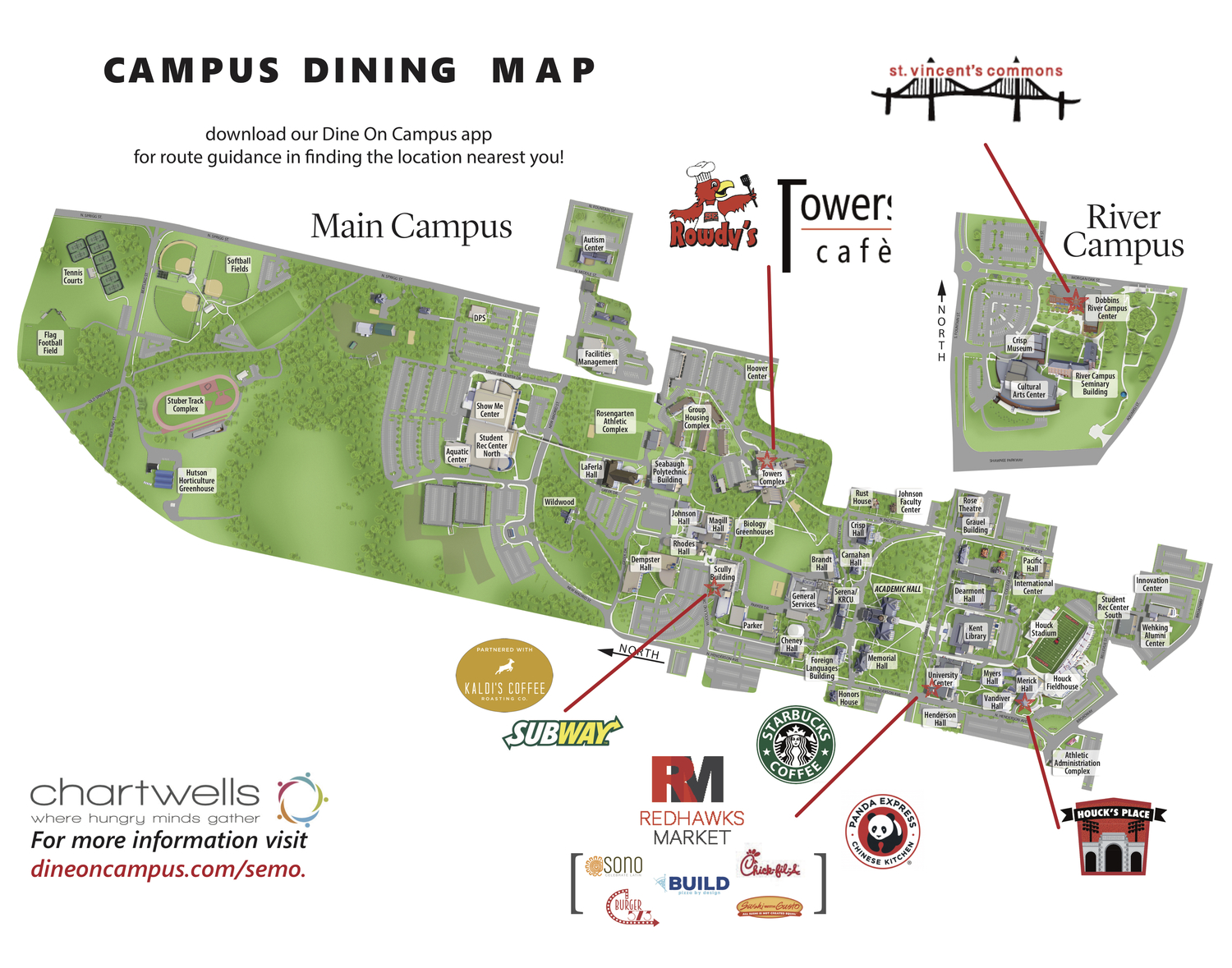 southeast missouri state university campus map Dine On Campus At Southeast Missouri State University Dining southeast missouri state university campus map